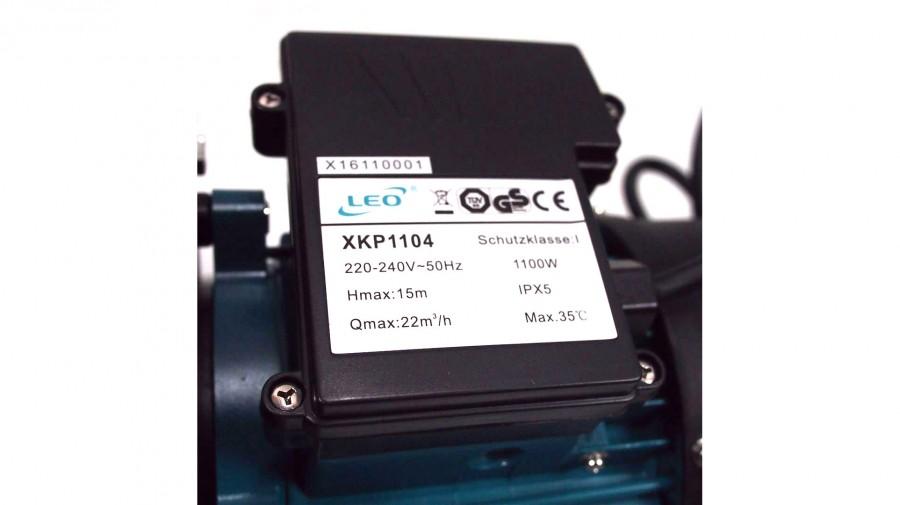 ปั๊มสระว่ายน้ำ LEO XKP1104 1.5 HP (1.5 แรงม้า) ขนาด 2 x 2 นิ้ว