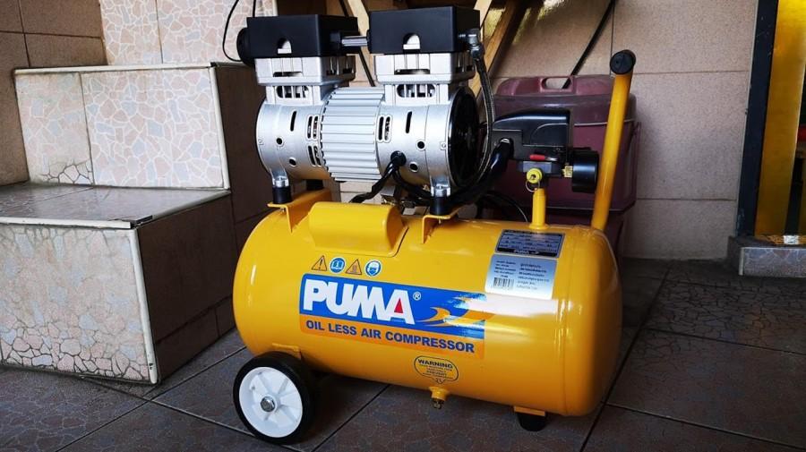 ปั๊มลมชนิด เงียบ แบบไร้น้ำมัน PUMA PS-1530 ขนาด 24 ลิตร