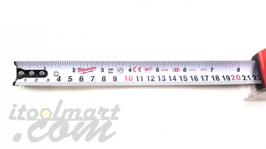 ตลับเมตร MILWAUKEE 5m/16ft tradesman Red Tape Measure