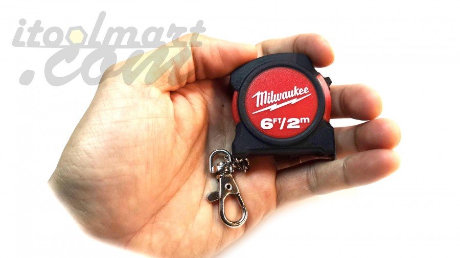 ตลับเมตร MILWAUKEE 2m/6ft Keychain Tape Measure